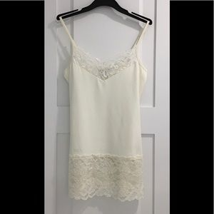 WHITE HOUSE BLACK MARKET Lace-Hem Cami